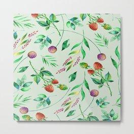 Classic Floral Pattern Metal Print