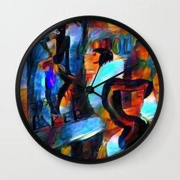 Josephine Baker on Josephine Baker Paris Jazz Portrait Wall Clock