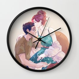 James and Lily Wall Clock