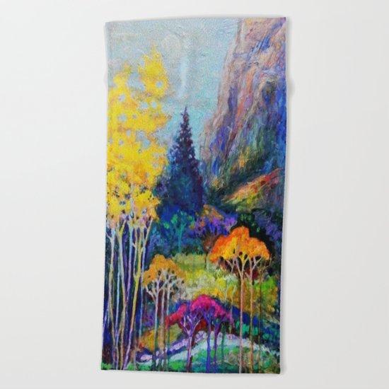 Mountain Aspen Trees  Landscape Beach Towel