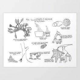 An Illustrated Memoir of Autumn Art Print
