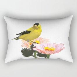 Goldfinch in the Garden Rectangular Pillow