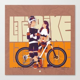 Let's bike Let's ride Canvas Print