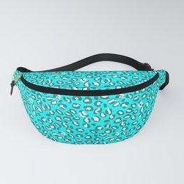 Ocean Blue and Blue Green Leopard Spot Pattern Fanny Pack