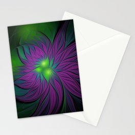Purple Magic Flower Stationery Cards