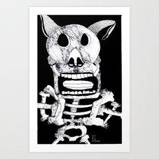 Pig Bat Art Print
