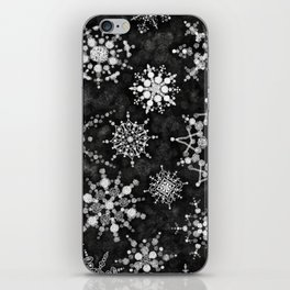 Gray Snowflakes iPhone Skin