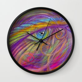 Guardian Angel with Feather Wall Clock