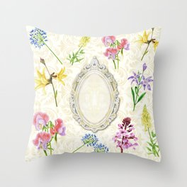 BEAUTY ON THE MIRROR Throw Pillow