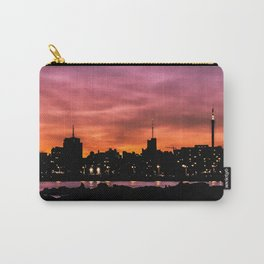 Cityscape Sunset Scene, Montevideo, Uruguay Carry-All Pouch