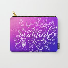 Gratitude Purply Pink Carry-All Pouch