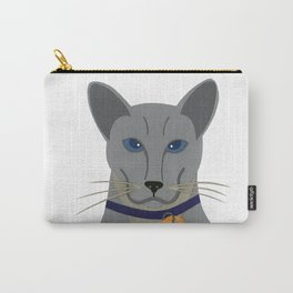 Cheeky Siamese Cat Carry-All Pouch