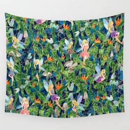 Emerald Fairy Forest Wall Tapestry