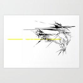 Holy Weapon // (Glitch Owl) Art Print