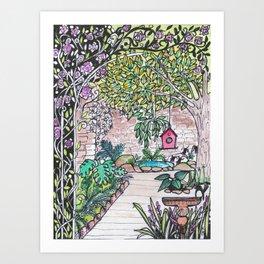 Val's Beautiful Garden Art Print
