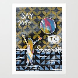 Say Hello to Summer Art Print