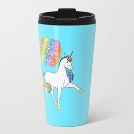 Light blue Unicorn Travel Mug