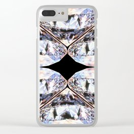 DIAMONDS ARE MORE THAN MY BEST FRIENDS Clear iPhone Case