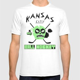 Kansas City Ball Hockey Thrashed Skull [Green] T-shirt