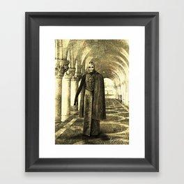 Dark Victorian Portrait: King in Yellow (Clean) Framed Art Print