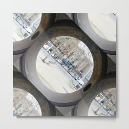 That exercise for discerning light or shadows by object displacement. Metal Print