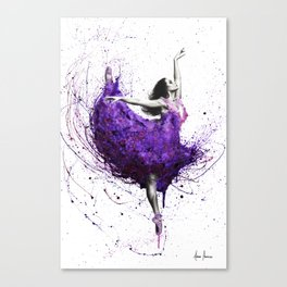 Purple Rains Ballet Canvas Print