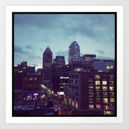Montreal February night Art Print