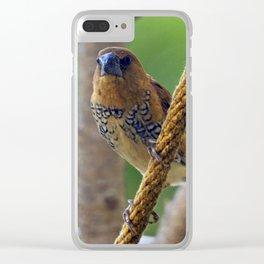 Nutmeg Mannikin Clear iPhone Case
