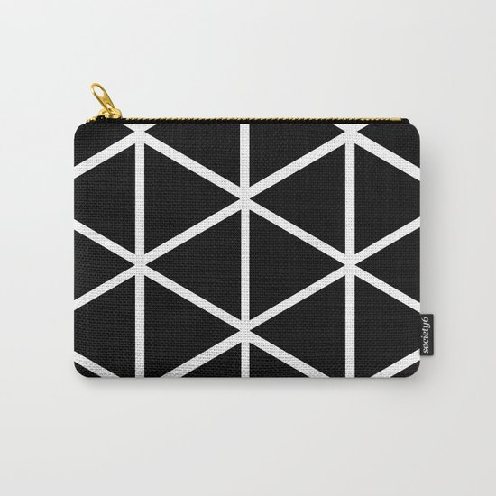 BLACK & WHITE TRIANGLES 2 Carry-All Pouch