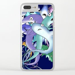 Silly Sharks Clear iPhone Case