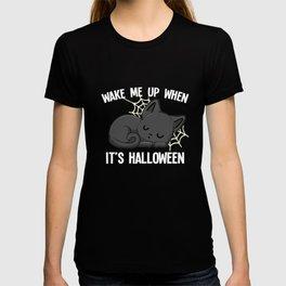 Halloween Black Cat funny costume gifts T-shirt
