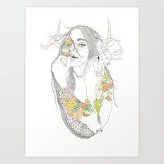 colour blind Art Print