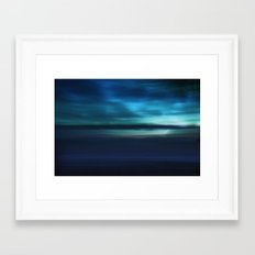 Blue Landscape Framed Art Print