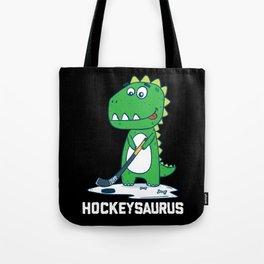 Hockeysaurus Hockey Cute Funny Kids Dinosaur Gift Tote Bag
