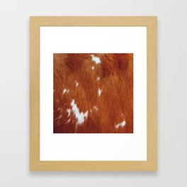 Tan Cowhide Smooth Texture Framed Art Print