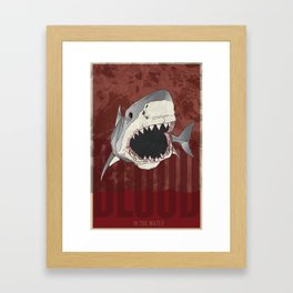 Blood in the Water Framed Art Print