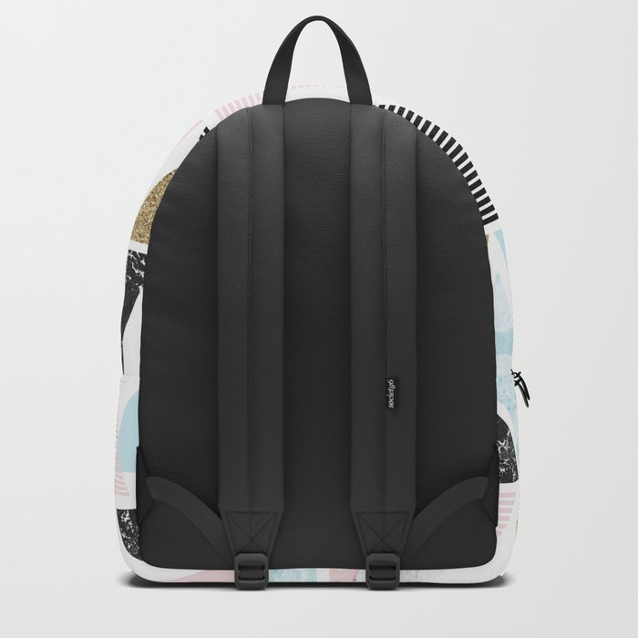 Textures triangles geometric Backpack