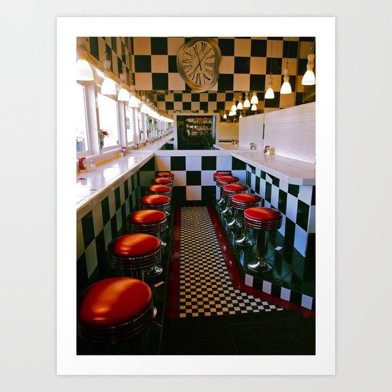Diner classic Art Print