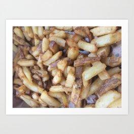 Five Guys Fries Art Print