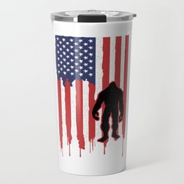 Freedom Isn't Free 4th Of July Liberty USA Independence Day American Flag Bigfoot Sasquatch Gift Travel Mug