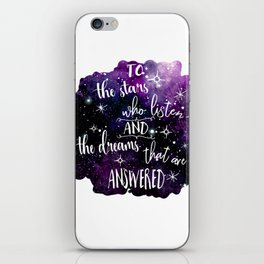 A court of mist and fury iPhone Skin