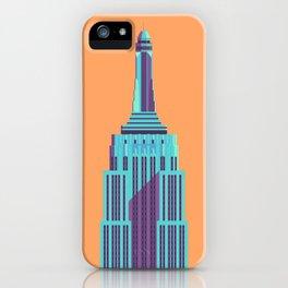 Empire State Building New York Art Deco - Orange iPhone Case