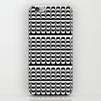 techno iPhone & iPod Skins featuring Techno Zebra by Lyle Hatch