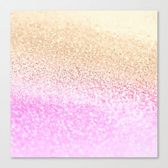GOLD PINK GLITTER by Monika Strigel Canvas Print