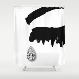Crying Girl Shower Curtain