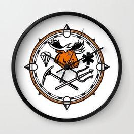 Moose Land Sea Air Emergency Rescue Mascot Wall Clock