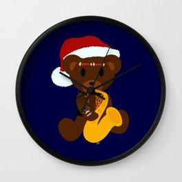 Eddie's Teddy Xmas Wall Clock