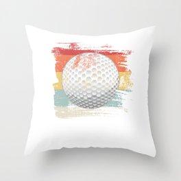 Retro Golf Ball Throw Pillow