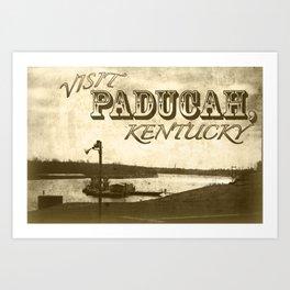 Visit Paducah! Postcard Art Print