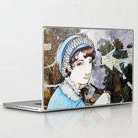 jane austen Laptop & iPad Skins featuring Jane Austen by Makissima